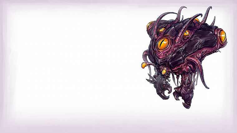 video games, Zerg, artwork, StarCraft II, Overseer - desktop wallpaper