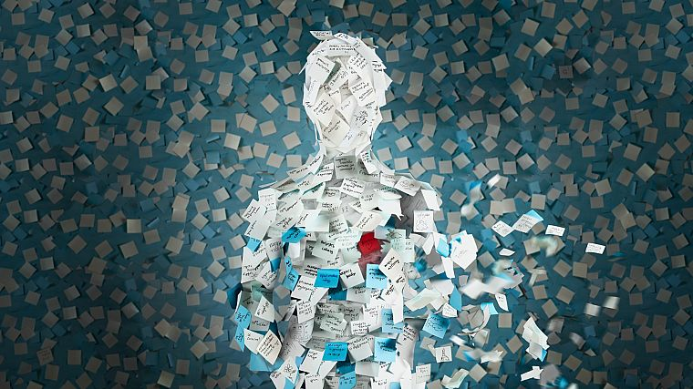 paper, silhouettes, human, post it note, stationery - desktop wallpaper