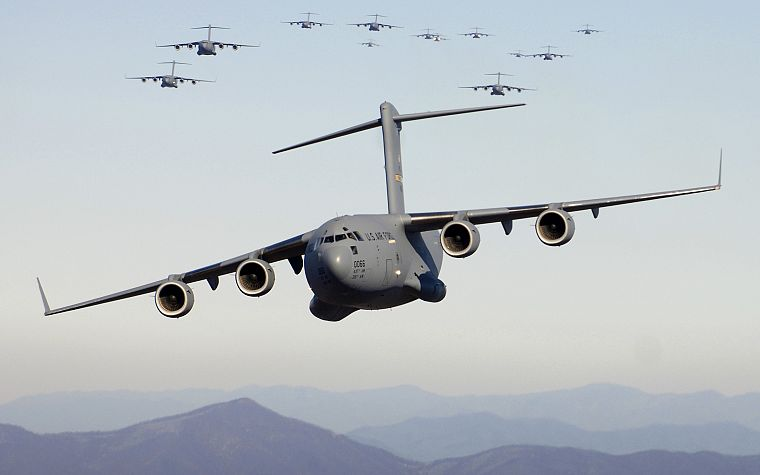 aircraft, military, planes, cargo aircrafts, C-17 Globemaster - desktop wallpaper