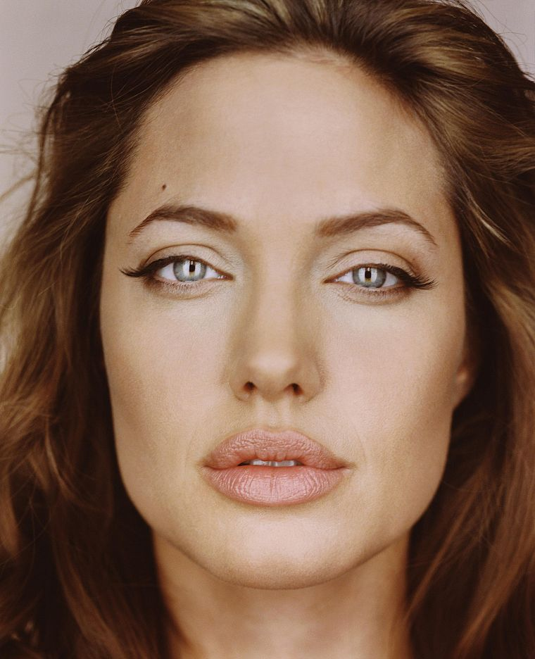 women, Angelina Jolie, faces - desktop wallpaper