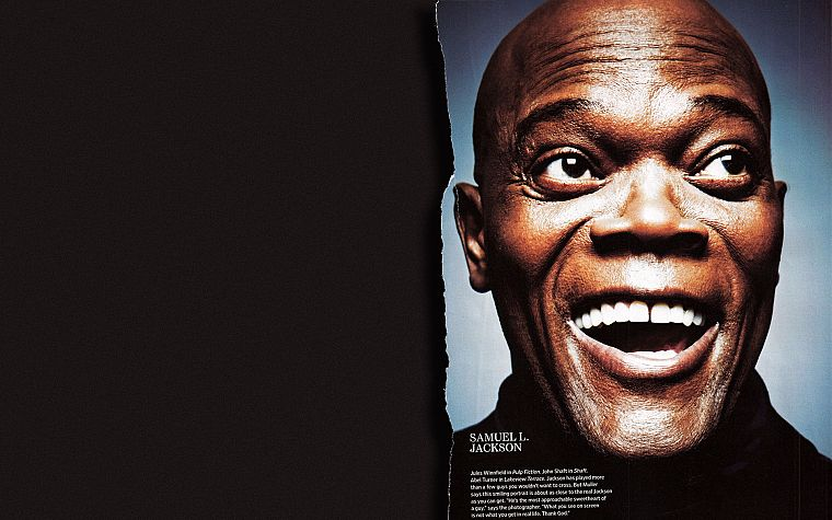 men, Samuel L. Jackson, faces - desktop wallpaper