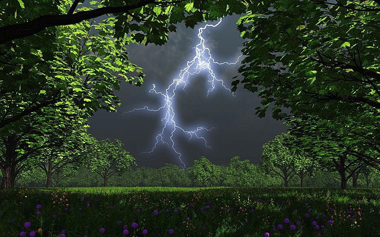 landscapes, nature, weather, lightning - desktop wallpaper