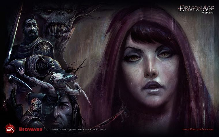 Morrigan, video games, RPG, artwork, Dragon Age Origins - desktop wallpaper