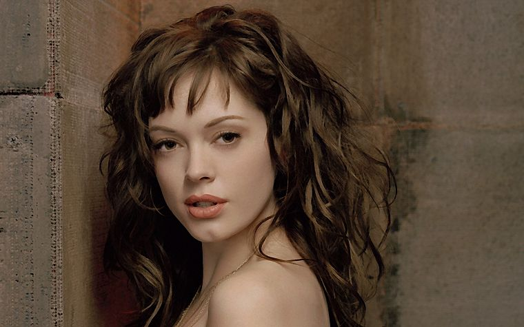 brunettes, women, Rose Mcgowan, faces - desktop wallpaper