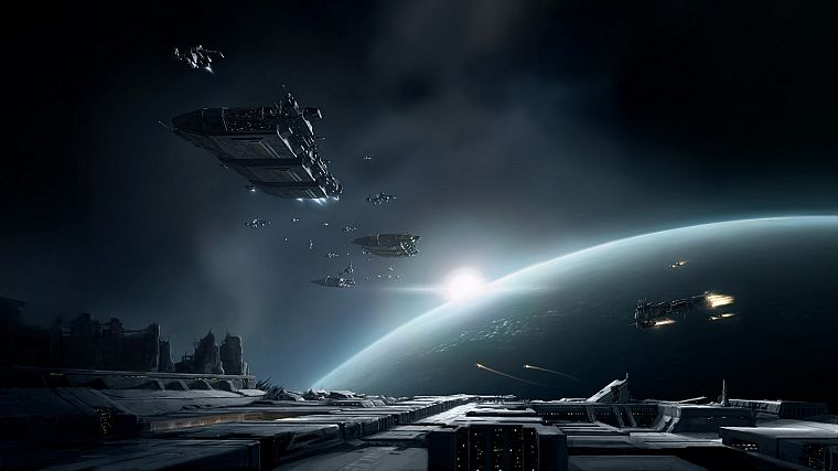video games, outer space, EVE Online, spaceships, artwork, vehicles - desktop wallpaper