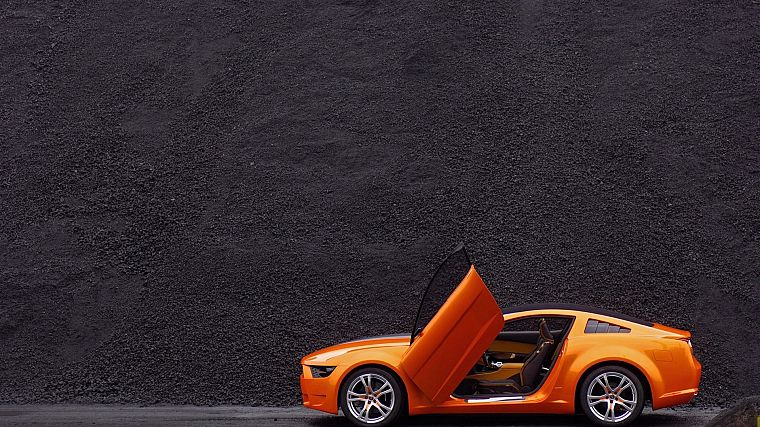 cars, Ford, vehicles, Ford Mustang, side view, Ford Mustang Giugiaro - desktop wallpaper