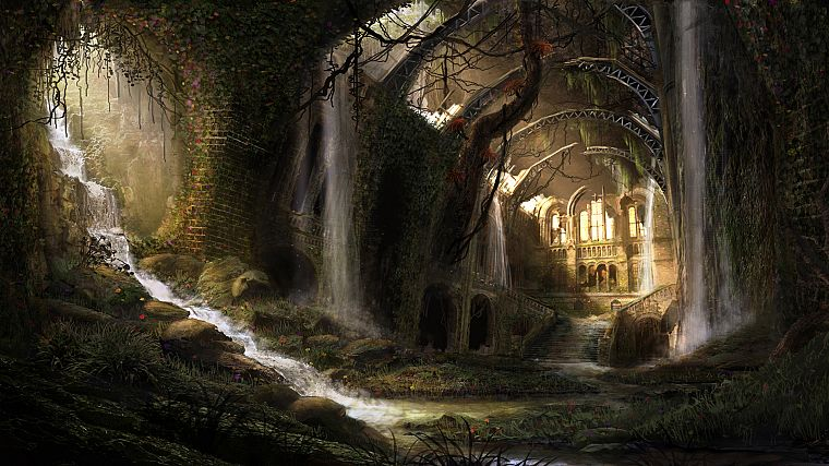 ruins, fantasy art, artwork - desktop wallpaper