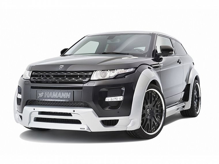 cars, studio, front, vehicles, Range Rover, Hamann, white background, Range Rover Evoque - desktop wallpaper