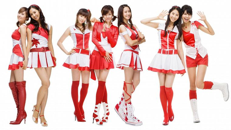 women, cosplay, Girls Generation SNSD, skirts, celebrity, high heels, Asians, Seohyun, Korean, singers, Jessica Jung, Kim Taeyeon, Kwon Yuri, Im YoonA, Choi Sooyoung, K-Pop, Tiffany Hwang, bangs - desktop wallpaper