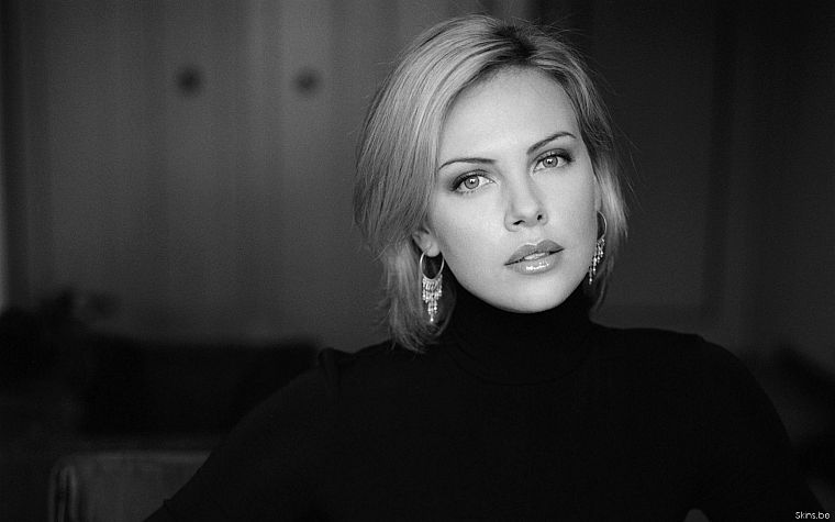 women, Charlize Theron, sweaters - desktop wallpaper