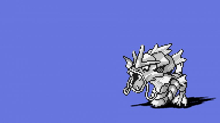 Pokemon, Gyarados, simple background - desktop wallpaper