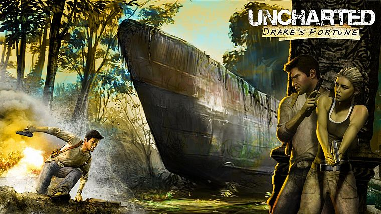 video games, Uncharted - desktop wallpaper