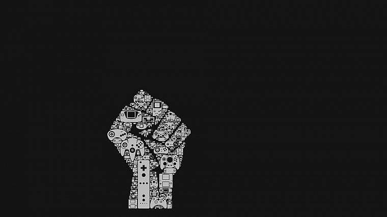 abstract, minimalistic, fists, Guerrilla - desktop wallpaper