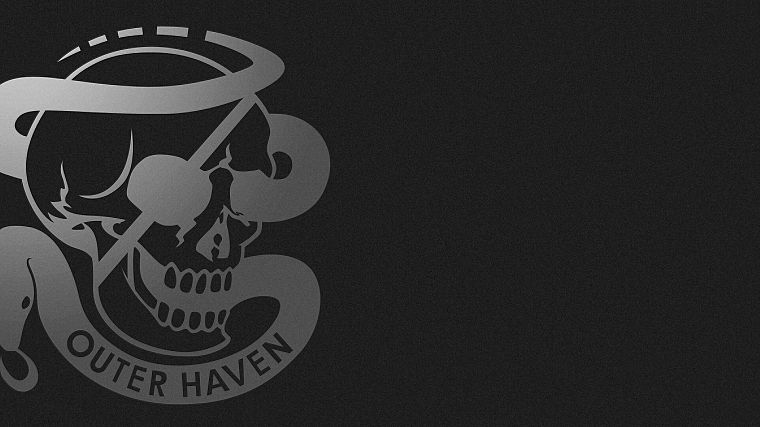 Metal Gear, skulls, logos - desktop wallpaper
