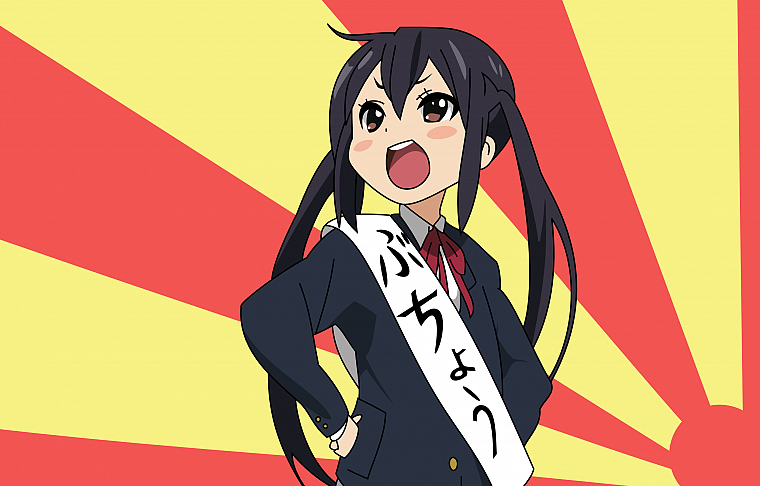 K-ON!, school uniforms, Nakano Azusa - desktop wallpaper