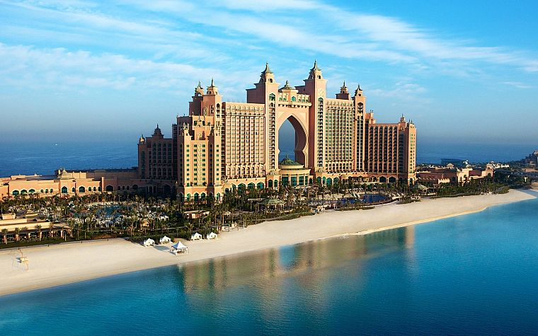 cityscapes, Atlantis, Dubai, The Palm Jumeirah - desktop wallpaper