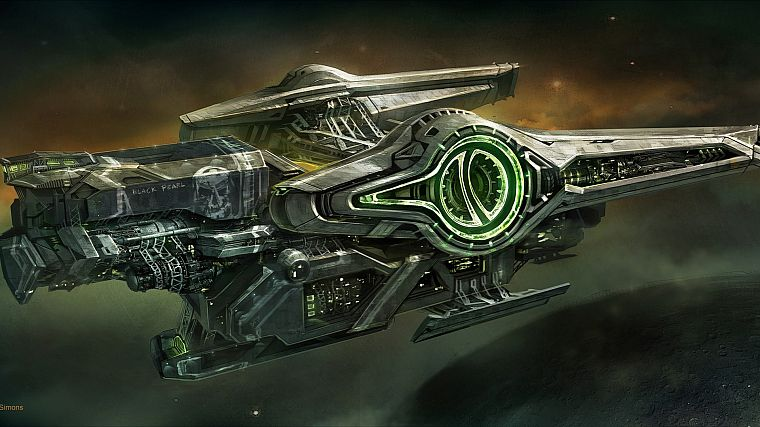 outer space, fantasy art, spaceships, artwork, vehicles - desktop wallpaper