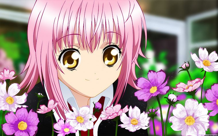 pink hair, Shugo Chara!, golden eyes, Hinamori Amu, anime girls - desktop wallpaper