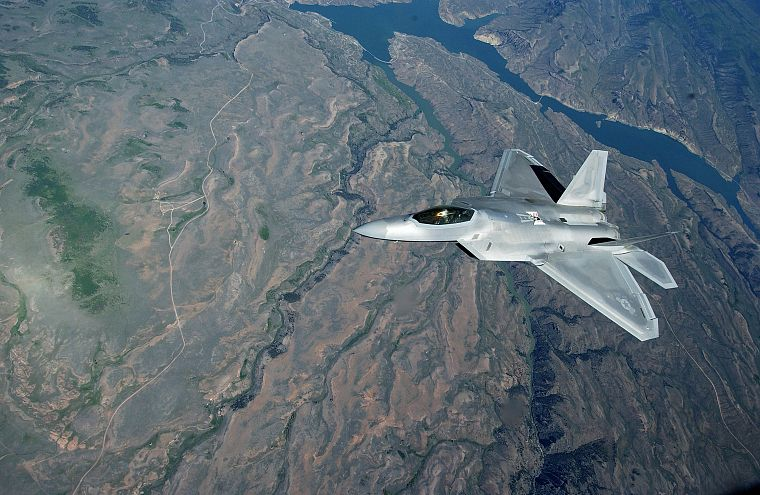 aircraft, military, F-22 Raptor, United States Air Force, vehicles, jet aircraft - desktop wallpaper