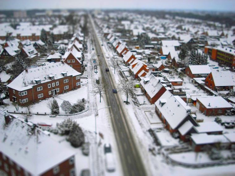 winter, cityscapes, buildings, tilt-shift - desktop wallpaper