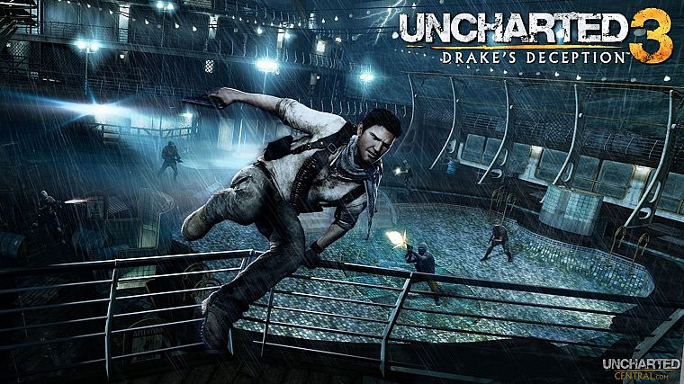 video games, Uncharted, Nathan Drake, Uncharted 3 - desktop wallpaper