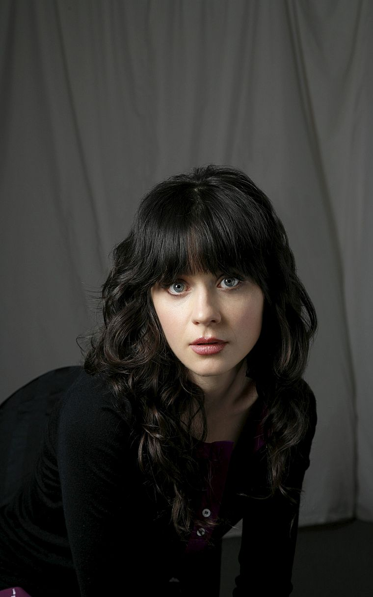 brunettes, women, actress, Zooey Deschanel - desktop wallpaper