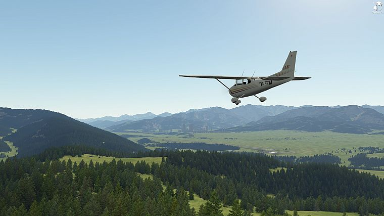 video games, aircraft, Outerra, Cessna, aviation, terrain, flight simulator X - desktop wallpaper