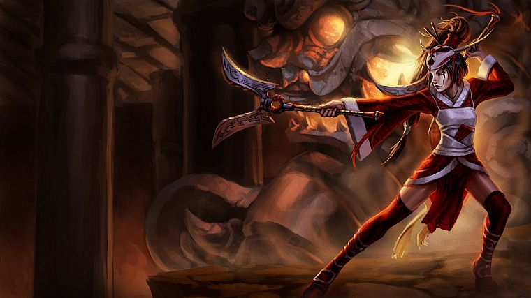 video games, League of Legends, fantasy art, girls with guns, artwork, Akali - desktop wallpaper