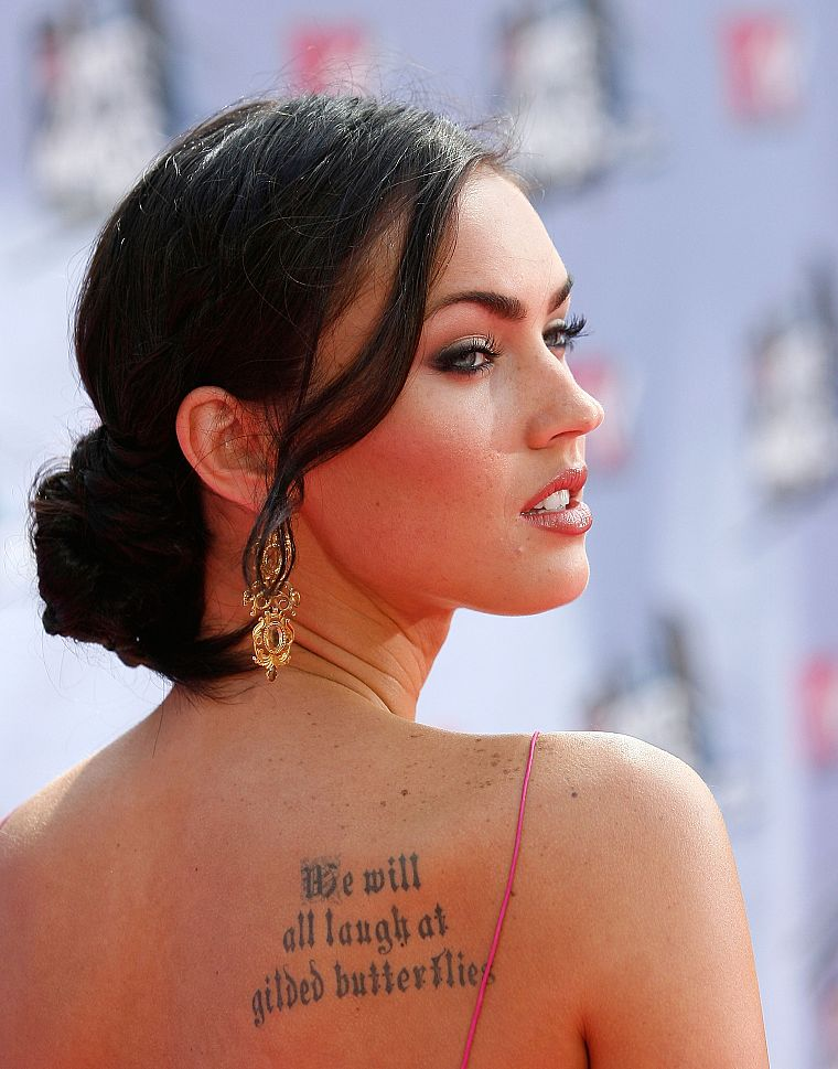 tattoos, women, Megan Fox, actress, celebrity - desktop wallpaper