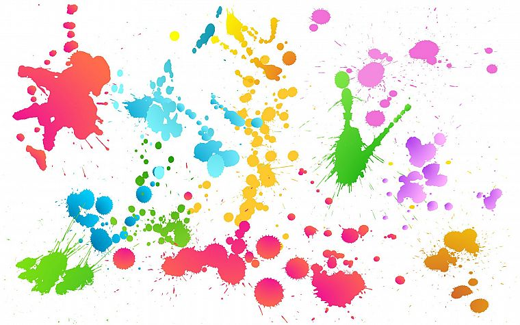 abstract, multicolor, artwork, colors, splashes - desktop wallpaper