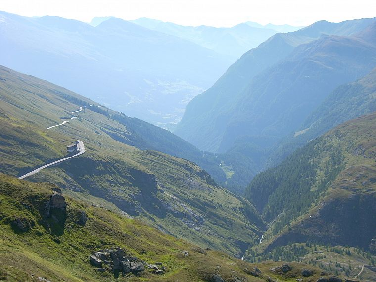 mountains, landscapes, nature, Austria, valleys, roads - desktop wallpaper