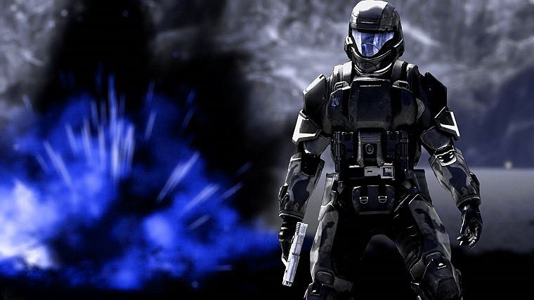 video games, Halo ODST - desktop wallpaper