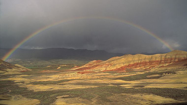 landscapes, nature, rainbows - desktop wallpaper
