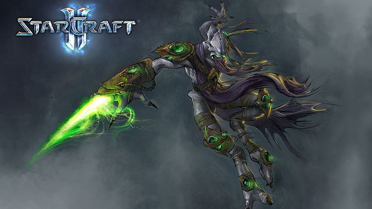 video games, StarCraft, Protoss, StarCraft II - desktop wallpaper