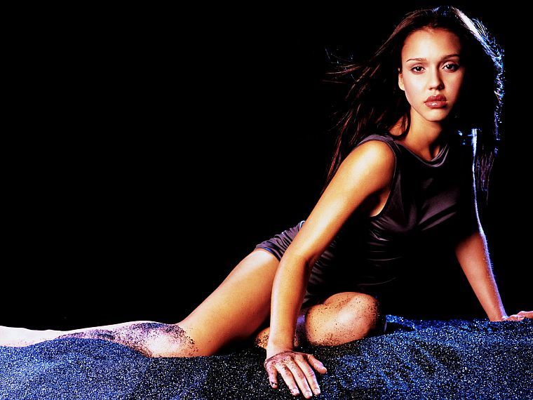 brunettes, women, Jessica Alba, actress - desktop wallpaper