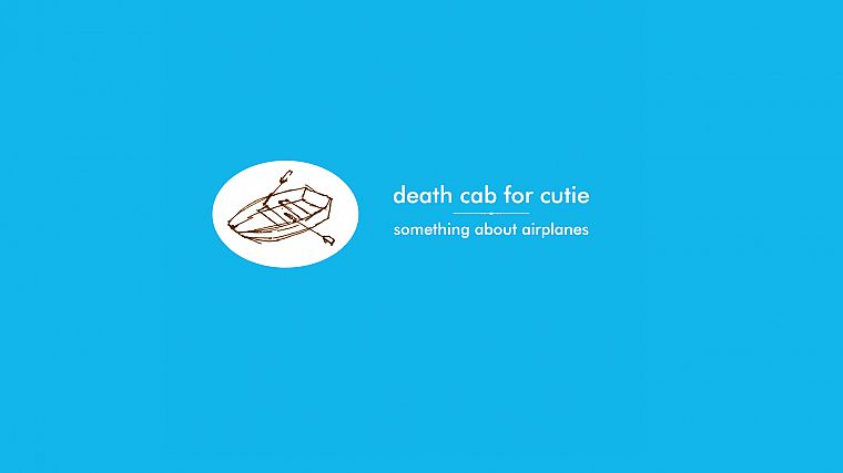 Death Cab For Cutie, blue background - desktop wallpaper