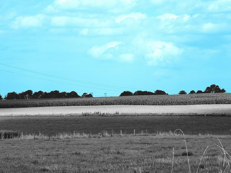 landscapes, nature, selective coloring, blue skies - desktop wallpaper