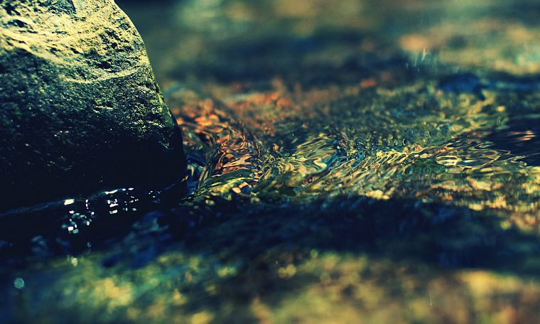 water, stones, flow - desktop wallpaper