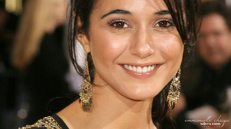 women, actress, celebrity, Emmanuelle Chriqui, smiling, earrings, Canadian, faces - desktop wallpaper