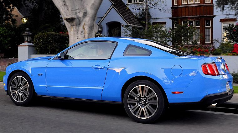cars, Ford, vehicles, Ford Mustang, side view - desktop wallpaper