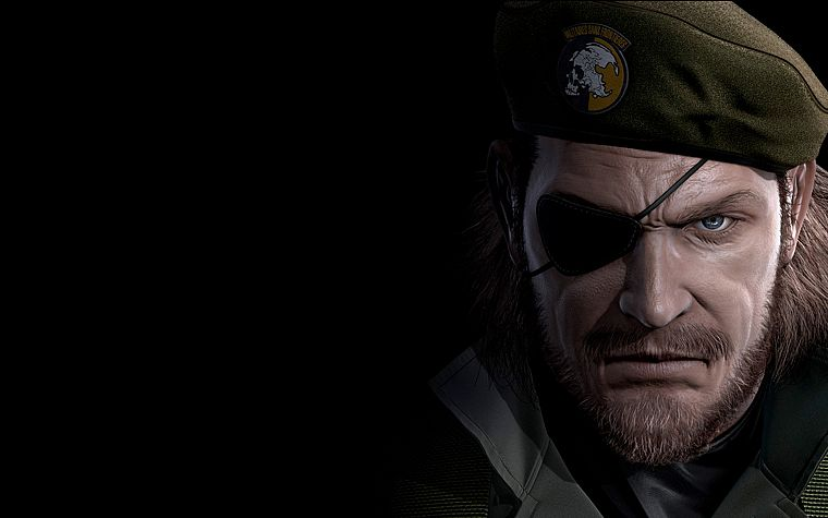 Metal Gear Solid, eyepatch, Peace Walker, beret, Big Boss - desktop wallpaper