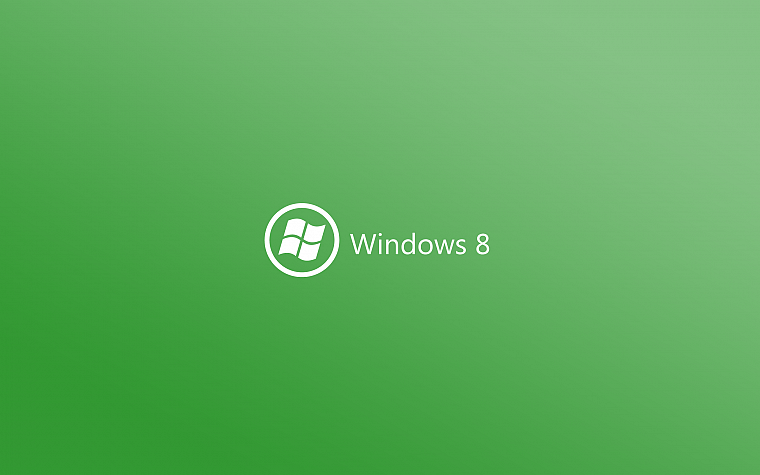 green, minimalistic, DeviantART, Windows 8 - desktop wallpaper