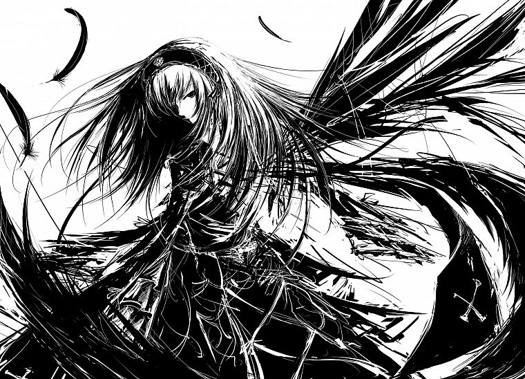 Rozen Maiden, Suigintou - desktop wallpaper