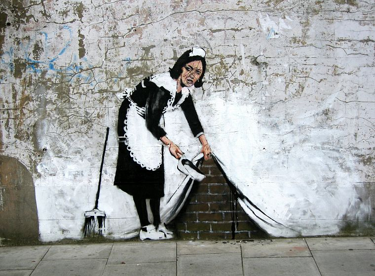 graffiti, Banksy - desktop wallpaper