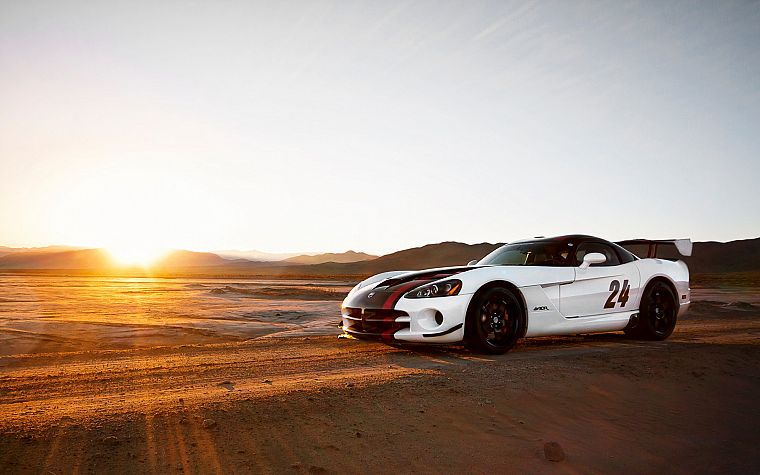 Sun, sand, cars, deserts, vehicles, Dodge Viper, Dodge Viper SRT-10 ACR - desktop wallpaper