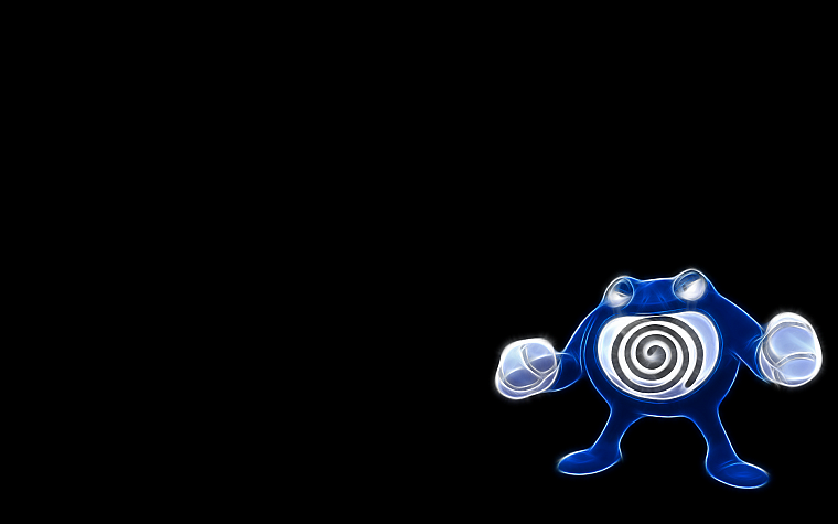 Pokemon, simple background, Poliwrath, black background - desktop wallpaper