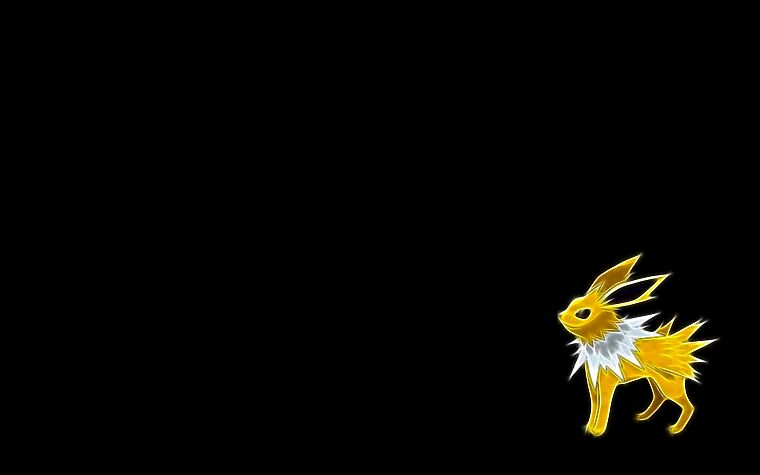 Pokemon, Jolteon, black background - desktop wallpaper
