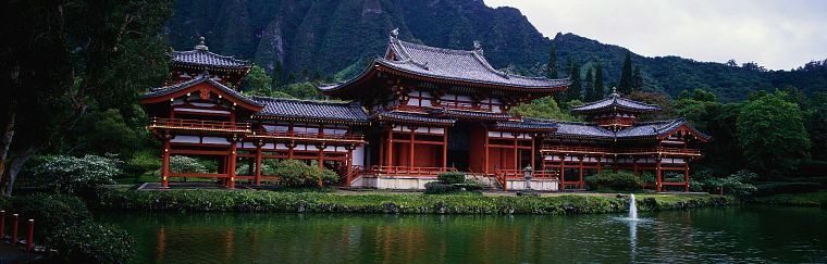 architecture, buildings, Asian architecture, multiscreen, widescreen - desktop wallpaper