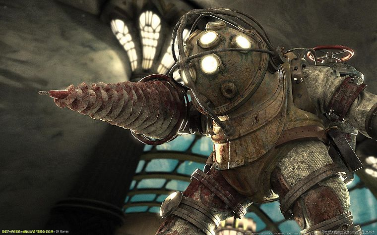 video games, Big Daddy, BioShock - desktop wallpaper