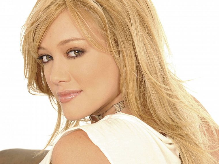 blondes, women, Hilary Duff, celebrity, white background - desktop wallpaper